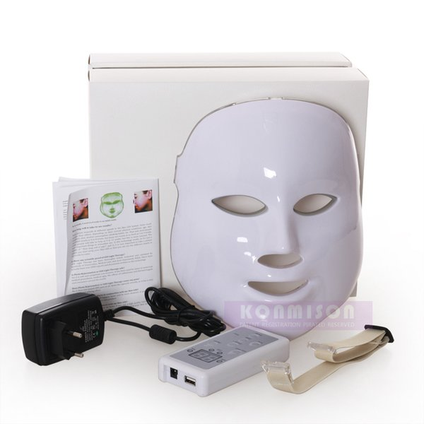 LED Facial Mask With 3 PDT Photon Lights For Skin Rejuvenation Acne Removal Anti-aging Light Beauty Machine DHL Free Shipping