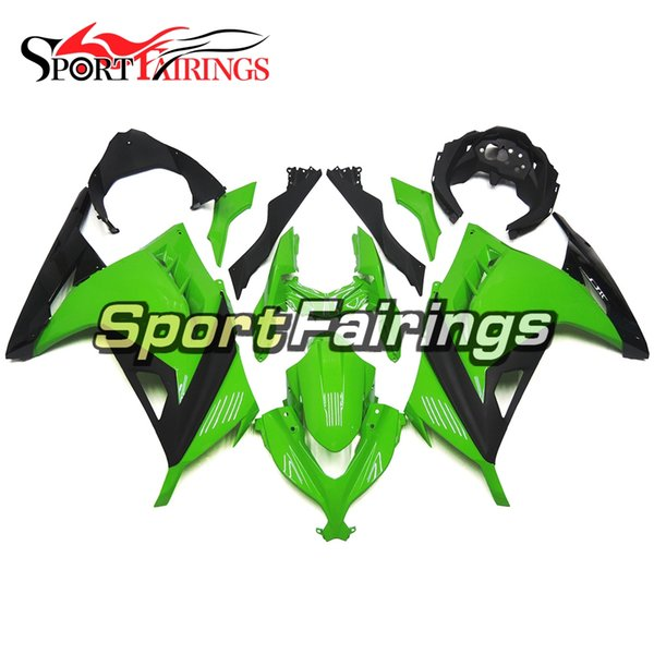 Matte black gloss Green Injection Fairings For Kawasaki Ninja 300 EX300R 2013-2015 13-15 ABS Plastics Motorcycle Full Fairing Kit Cowling