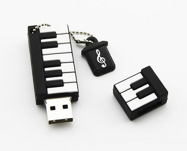 Cute Cartoon New Cartoon Piano Model USB 2.0 32GB Flash Drive Memory Stick Pendrive Gift U Disk 32GB 64GB 128GB 256GB