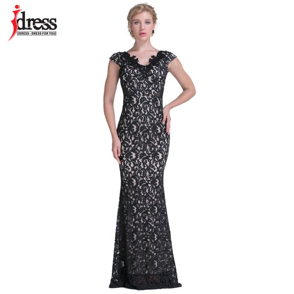 Idress High Quality 2017 Latex Runway Designer Black Lace Mermaid ...