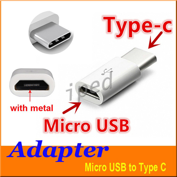 top popular Cheapest Micro USB to USB 2.0 Type-C USB Data Adapter connector For Note7 new MacBook ChromeBook Pixel Nexus 5X 6P Nexus 6P Nokia N1 DHL 300 2021