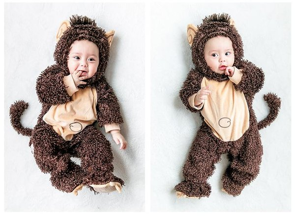 Christmas Jumpsuit baby clothing Monkey animal modeling cosplay Costume wearing in springand autumn and winter Popular in Europe and America