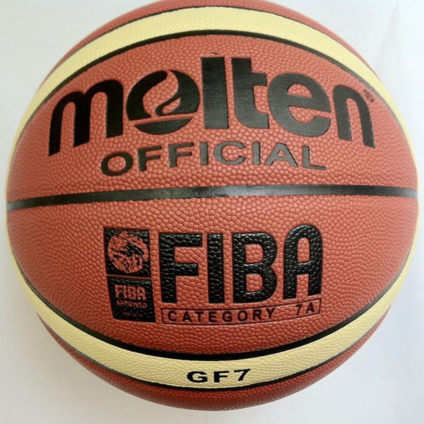 best selling Free Shipping Molten Basketball GF7, Size7 basketball,official basketball, 1pcs lot Free with ball pump+net bag+2pcs pins