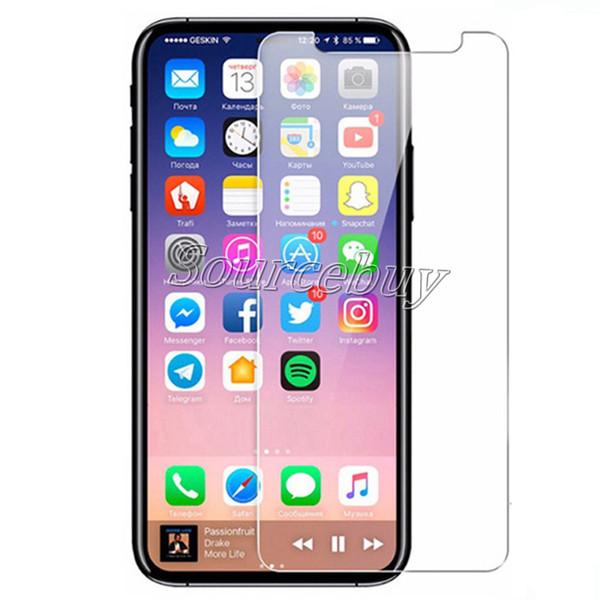Para iphone x 8 7 6 6 s plus protetor de tela de vidro temperado para iphonex i8 proteção filme transparente com 9 H Dureza Retail Box
