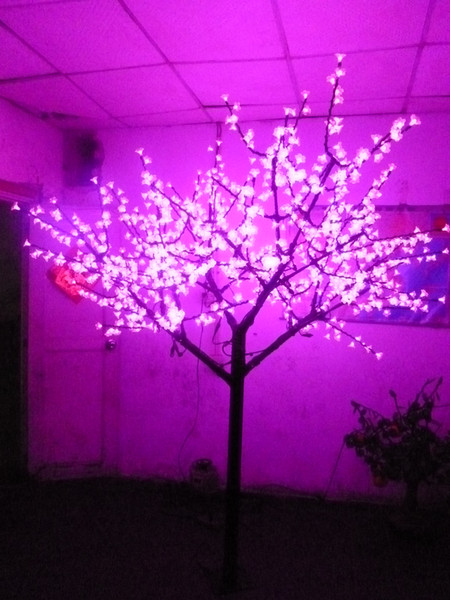 Christmas Holiday wedding LED Cherry Blossom Tree Light 1152pcs LED Bulbs 2m Height 110/220VAC Pink Rainproof Free Shipping
