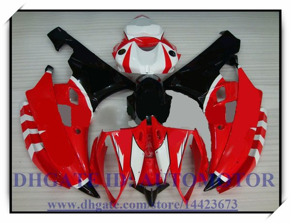 Injection brand new fairing kit 100% fit for YAMAHA YZFR6 YZF600 2006 2007 YZF R6 2006 2007 YZF R6 06 07 #HD883 RED BLACK