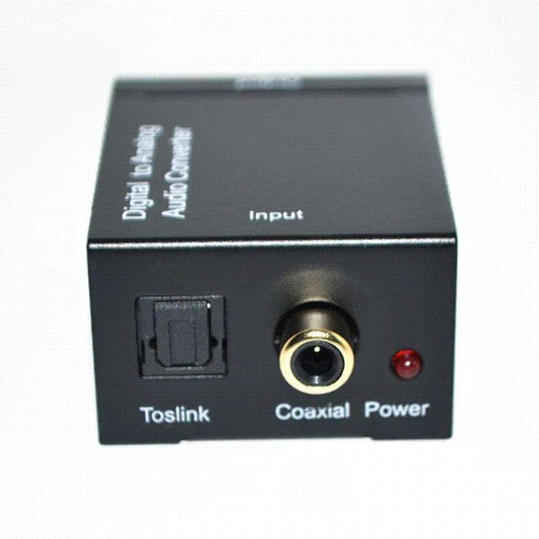 Coaxial Spdif or Toslink Optical Digital to Analog L/R RCA Audio Converter Conversor Adapter 5.1 Channel Stereo AC3/DTS