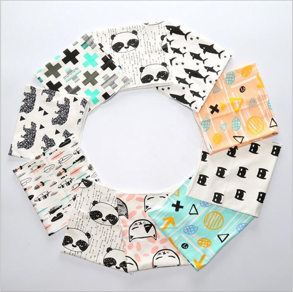 top popular Kids Scarves Fox Panda Animal Print Winter Neckerchief Baby Cartoon Cotton Scarves Wrap Kids Fashion Warm Shawl Ring Accessories Wraps J487 2021