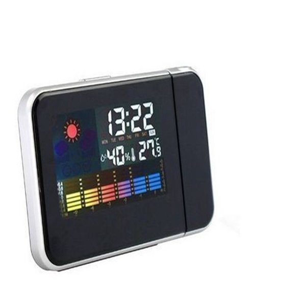 Digital Projection Alarm Clock Calender Thermometer Weather Station Alarm and Snooze 50pcs/lot Hot Selling Free Shipping