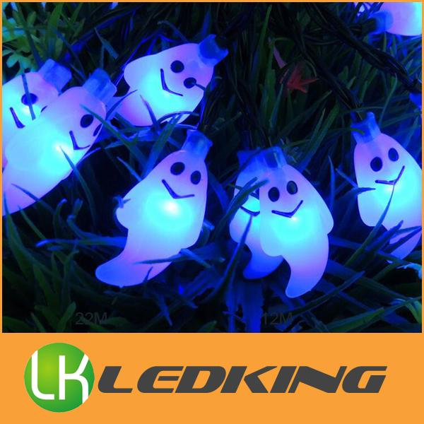 Solar LED ghost light string for Halloween outdoor led christmas decoration lights waterproof 6m 30leds bulbs free shipping