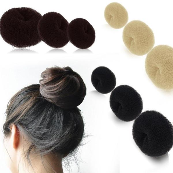 Womens Girl's HOT Hairdressing Hair Bun Ring Donut Shaper Magic Sponge Hair Chignon Hair Styler Maker 3 Sizes S M L