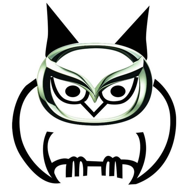 Wholesale Cool 3D DIY Owl Style Animal Pattern Sticker Car Truck Window Tail Head Vinyl Graphics Decal Bumper,for MAZDA Emblems Decoration