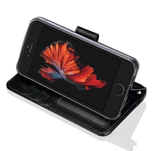 Venda quente Moldura Para Iphone SE Caso Tampa de Luxo Carteira Original Bonito Capa de Couro Da Aleta Da Tampa Para apple iphone 5 5s se