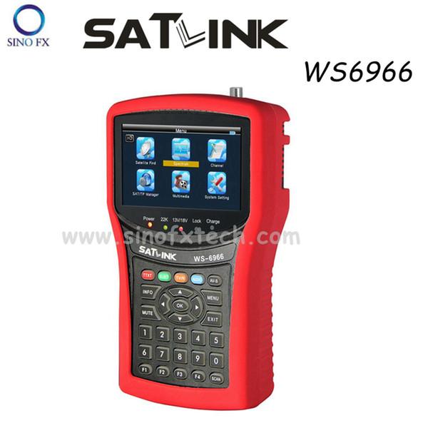 4.3inch LCD Original SATLINK WS6966 DVB-S2 satellite finder MPEG4 satlink finder meter WS-6966 with Spectrum Analyzer signal finder