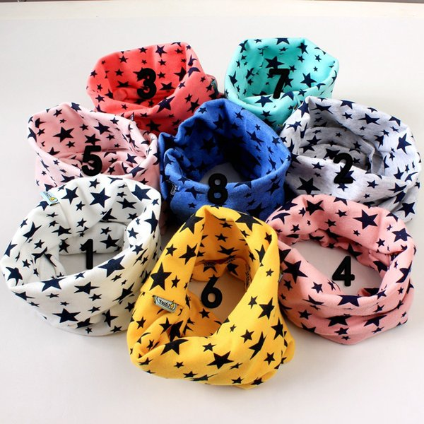 Hot Sale Baby boys girls smile scarf Children's ring autumn and winter New Fashion scarf kids stars Scarves & Wraps 20 color for choose