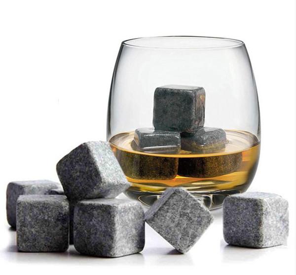 best selling 100% Natural Whiskey Stones 9pcs Set Whiskey stone ice cube stone soapstone whisky stone