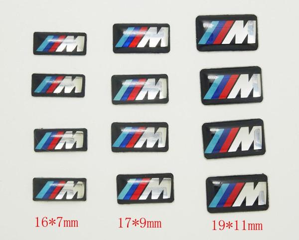 top popular 100pcs Tec Sport Wheel Badge 3D Emblem Sticker Decals Logo For bmw M Series M1 M3 M5 M6 X1 X3 X5 X6 E34 E36 E6 car styling stickers 2021