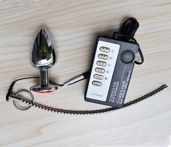 Plugue Uretral Plugue Eletro Choque Som Maca 260mm Aço Inoxidável 6mm