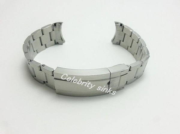 20mm (fibbia 16mm) NUOVA cinturino cinturino cinturino cinturino cinturino in acciaio inossidabile solido di alta qualità spazzolato per orologi Rolex