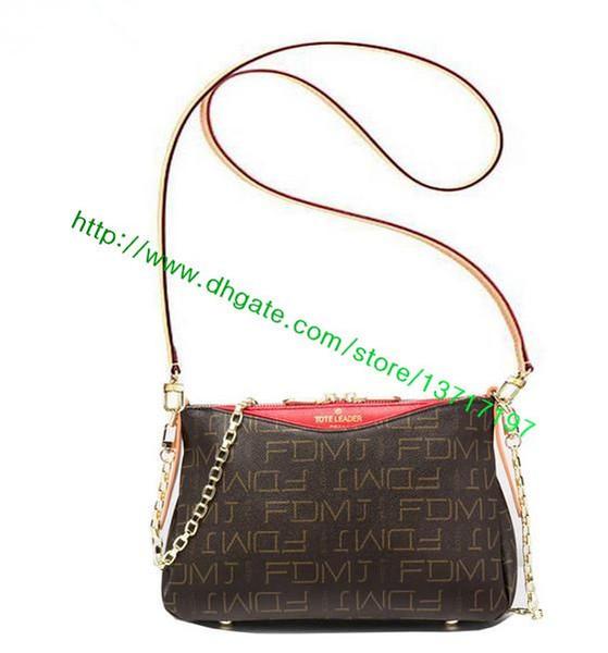 Top Grade Brown Canvas Coated Leather Lady Handbag Palllas CLUTCH M41733 M41638 M41639 Women Fashion designer Shoulder Clutch Bag