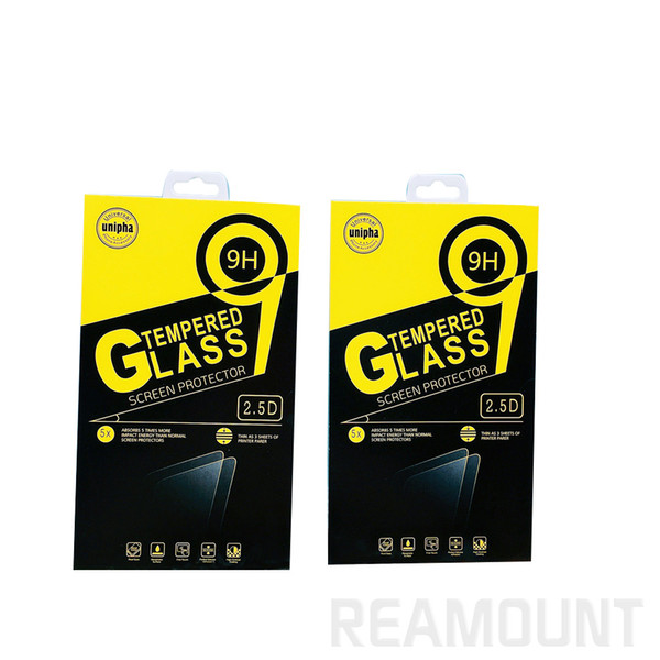 100pcs Custom Universal Paper Retail Package Packaging Box for Mobile Phone Tempered Glass Screen Protector Box