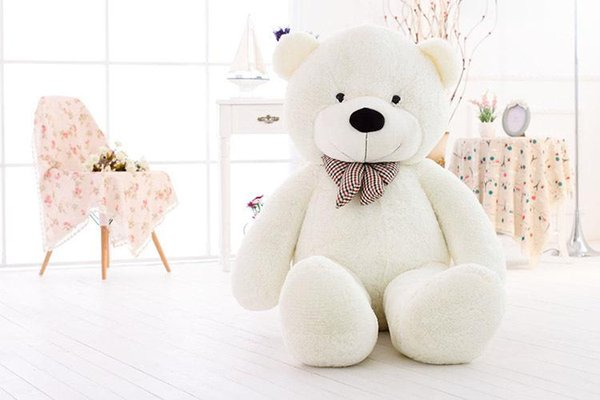 Free Shipping 100cm Teddy Bear Plush Toy White Light Brown And Dark Brown In Stock TY1993