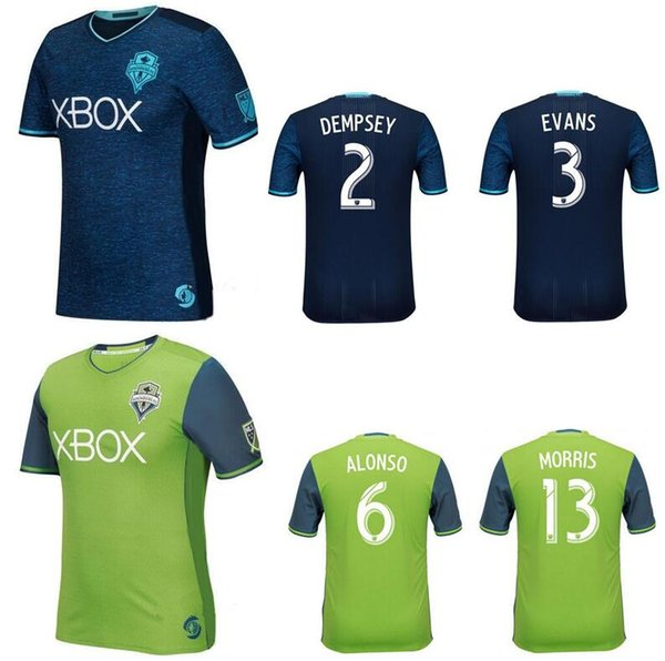 buy online 03f75 1c029 2019 Thai Quality Seattle Sounders 2016 FC Soccer Jerseys Uniforms 2  DEMPSEY 3 EVANS 6 ALONSO Football Shirt 9 MARTINS 17 YEDLIN Home Green From  ...