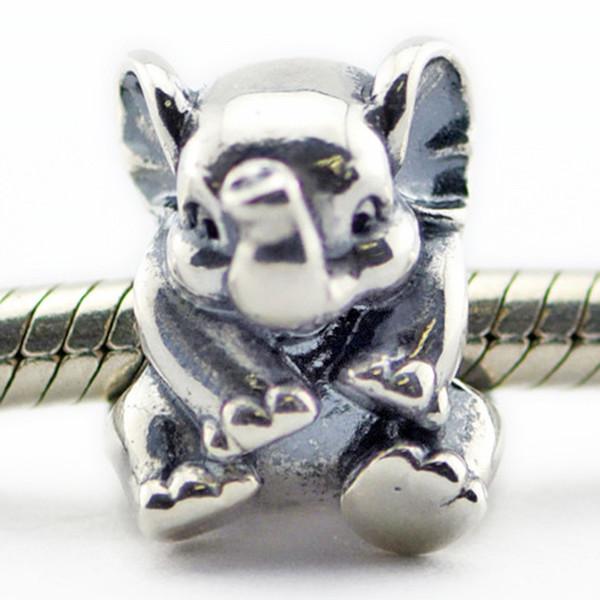 Lucky Elephant 2016 Estate 100% 925 Sterling Silver Bead Fit Pandora Bracelet Moda gioielli fai da te fascino Marca