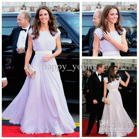 free shipping 2018 maxi vestidos formales Floor Length Short Sleeve dress of Kate Middleton long sexy Gowns Celebrity Dresses