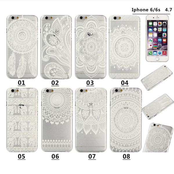 Дешевые для iPhone 6 4.7 чехол iPhone 6 плюс 5.5 все модели рельефные цветочные крышки фарфора Facotry Бесплатная доставка