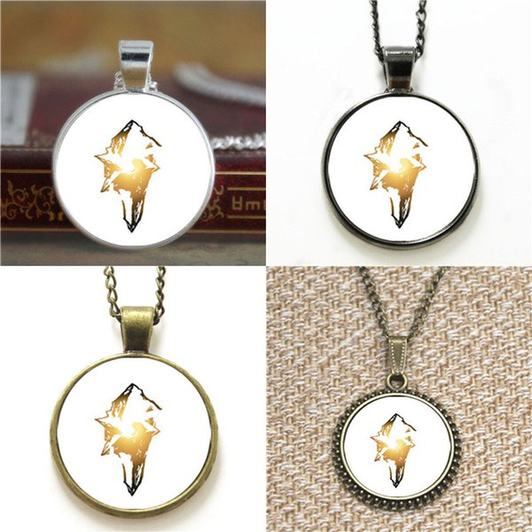 10pcs Final Fantasy IX FF9 logo inspired Necklace keyring bookmark cufflink earring bracelet