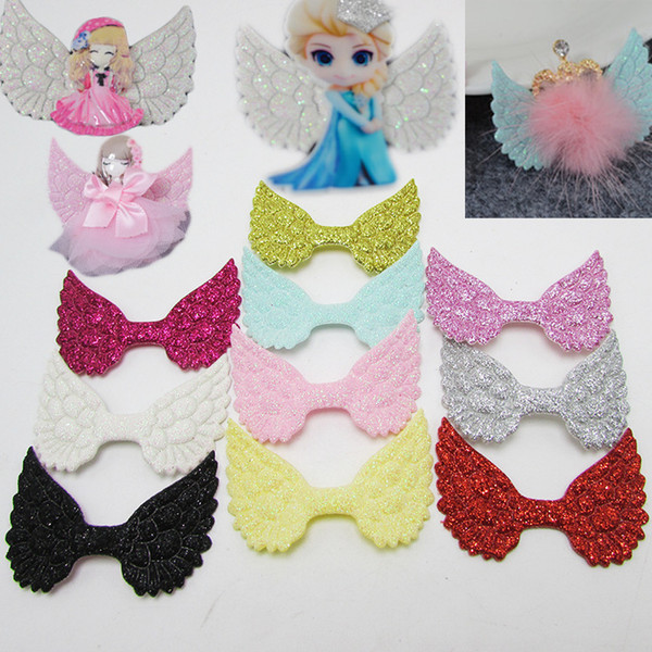 Cute Angel Glitter Wings Hair Accessories Diy Handmade Materials Fashion Headbands Solid Headwear Wedding Gift Wrap 100pcs /Lot