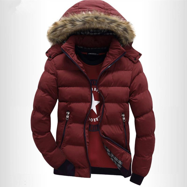 Fall-The new Winter 2015 Hooded Men Cotton-padded Clothes More Fashionable Mens Cotton Mens Wear Cotton-Padded Jacket Coat