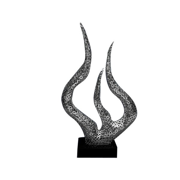 Современная минималистская скульптура ремесла большой железный металл украшения статуя украшения скульптура ремесла со смолой для клуба украшения