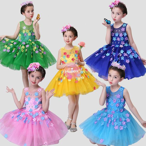 b328ae2ce950 2019 New Children Ballroom Modern Dance Dress Latin Ballet Dress For ...