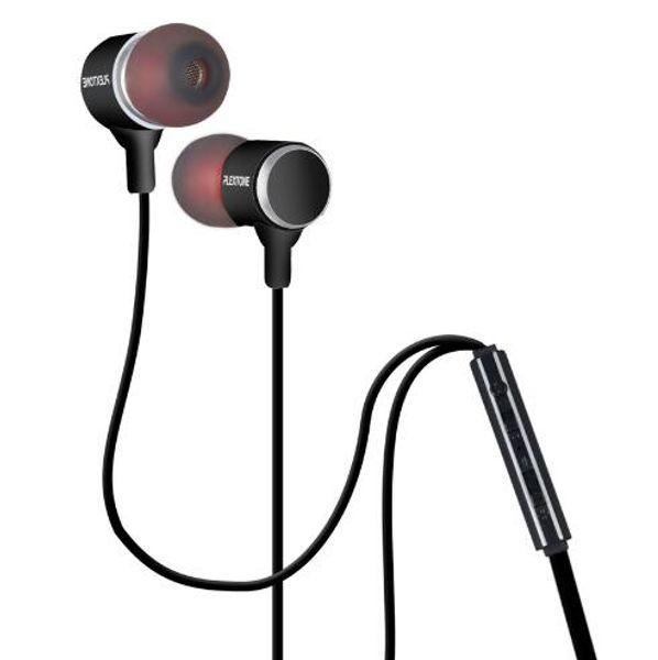 5pcs/lot Plextone X34M Metal Mega Bass 3.5mm Music Earphones For iPhone 4/5/6 Samsung Mobile Phone MP3 MP4 Universal Earbuds