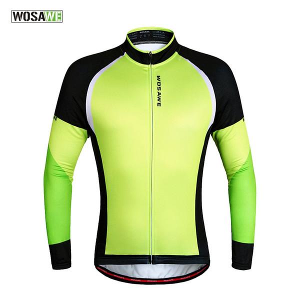 WOSAWE erkek Polar Termal Kış Bisiklet Ceketler Rüzgar Geçirmez Bisiklet Bisiklet Uzun Kollu Jersey Gömlek Ciclismo Bisiklet Giyim