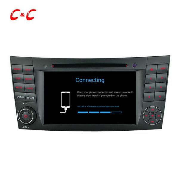 Quad Core HD 1024 * 600 Android 5.1.1 Reproducción de DVD de autos para Benz W211 (2002-2008) CLS350 E220, Ewith GPS Navigation Radio Wifi Enlace de espejo DVR