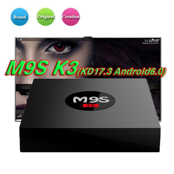 M9S K3 Rockchip RK3229 Quad core Samrt TV Box Android 6.0 1GB 8 GB HD 1080P 4K * 2K 2.4G Wifi TV Boxing migliore S912 S905W S905X