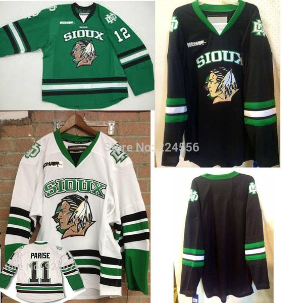 custom blank University North Dakota jersey home away green white jonathan  toews 68cdc890584
