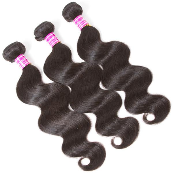 A buon mercato 8a brasiliani fornitori di capelli vergini trame di onda d'acqua non trasformati fasci di tessuto dritto Remy Onda profonda bagnato ed ondulato estensioni dei capelli umani