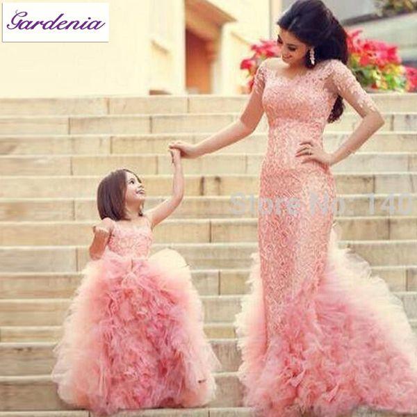 Designer Ruffle Flowergirl Girl Dress Blush Pink Fancy Appliques ...