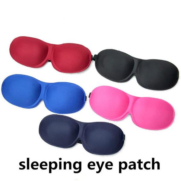 Bunte 3D Schlafmaske Natürliche Schlafaugenmaske Eyeshade Cover Shade Augenklappe Augenbinde Reise Augenklappe ouc2121