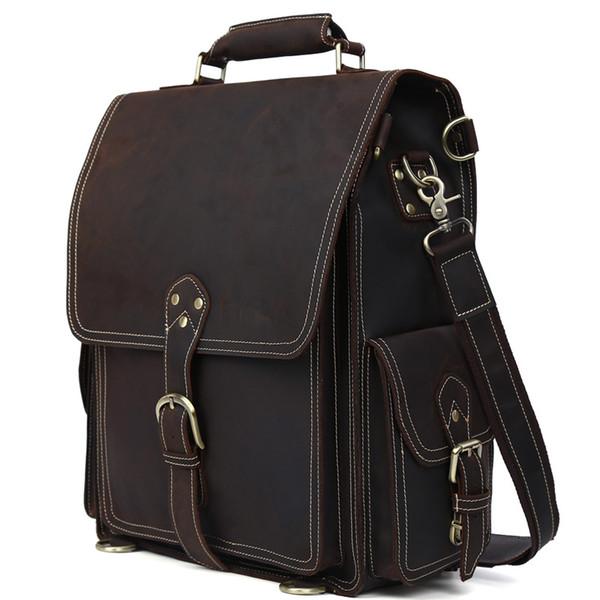 Nice Genuine Leather Backpack For Men Vintage Trendy Hiking Sport ...