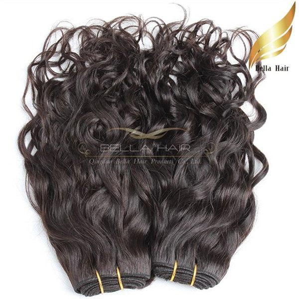 Brazilian Hair Weave Unprocessed Natural Color Natural Wave Wavy Hair Extention Double Weft 8~30pouces 4pcs/lot livraison gratuit Bella Hair