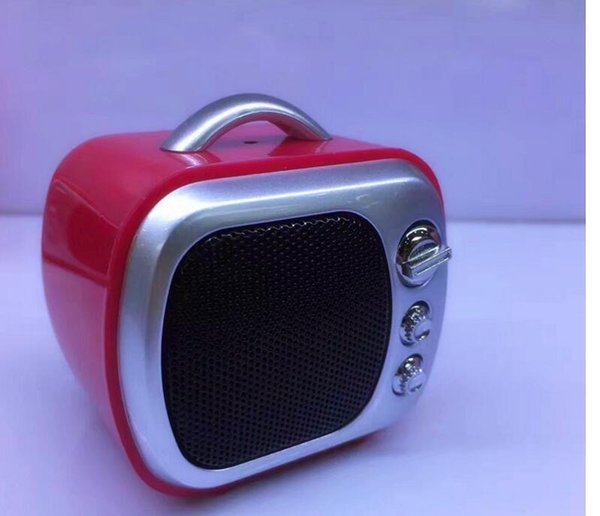 Mini Bluetooth Speaker Cute Retro TV Speakers Wireless Portable Sound Box TF Card MP3 Player Xmas Gift for Kids Outdoor Boombox