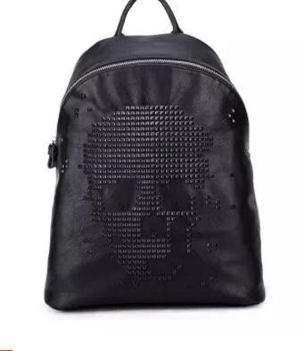 Pacote de vendas da marca de fábrica estilo Coreano mochila de couro macio padrão de moda lychee couro casual mochila estilo de tendência mochila do punk