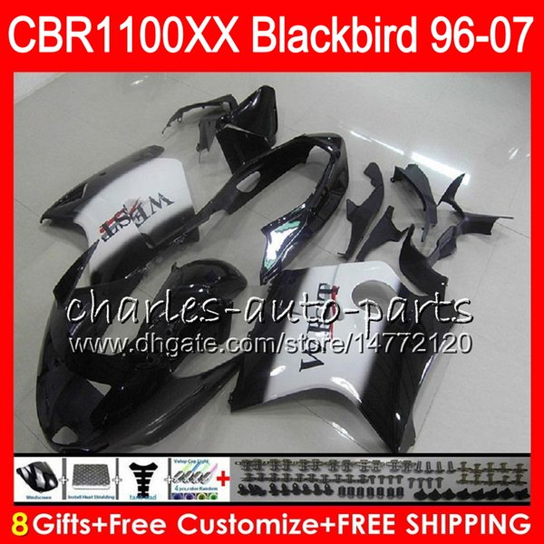 Body For HONDA Blackbird Black west CBR1100 XX CBR1100XX 96 97 98 99 00 01 81NO19 CBR 1100 XX 1100XX 1996 1997 1998 1999 2000 2001 Fairing