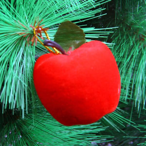 6pcs albero di natale decorazioni di natale di Apple bagattelle ornamenti di nozze del partito oro rosso Decor (rosso) più economico !!! cy
