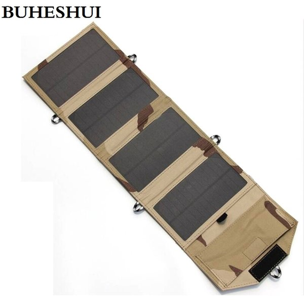 top popular HOT Polycrystalline Silicon Solar Panel Battery Charger 7W 5V Foldable Solar Charger Bag Solar Pack 7Watt USB Output Free Shipping 2021